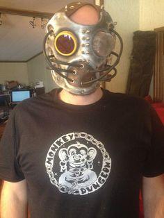 Hand Made Leather Art Mask Burning Man Steampunk Spikes | eBay