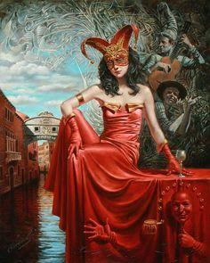 Michael Cheval   – Duodécimo Capricho de Casanova - óleo sobre lienzo - 2010