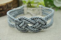 Fashion Sailor Knot Bracelet Infinity Knot Charm by Evanworld, $3.50 Fashion charm handmade personalized bracelet, the best gift.