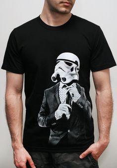 Storm Trooper Smarttrooper - Men's t shirt / Unisex t shirt ( Star Wars / Stormtrooper t shirt ). $23.00, via Etsy.
