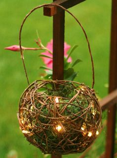 fairy lantern from old wicker balls