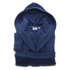 Linum Home Textiles Turtle Kids Turkish Cotton Hooded Terry Bathrobe Midnight Blue - LKDS50-L-CH3415