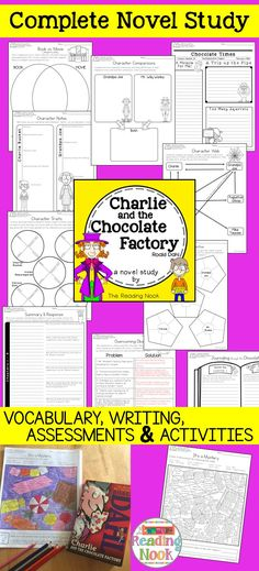 Charlie and the Chocolate Factory Novel Study Reading Groups, Reading Skills, Comprehension Strategies, Reading Comprehension, Charlie Chocolate Factory, Reading Response, Grammar And Vocabulary, Critical Thinking Skills, Book Study