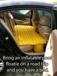 Living out of your car has never looked so comfortable and luxurious as it does now thanks to the inflatable car bed! Able to be set up in seconds, the inflatable car bed is perfect for road trips, or just for living in a van down by the river after you Road Trip Hacks, Camping Hacks, Camping Ideas, Van Camping, Camping Stuff, Canada Winter, Lowe's Canada, Grand Canyon, Long Car Rides