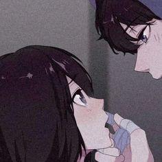 Anime Drawings Sketches, Anime Couples Drawings, Couple Drawings, Best Anime Couples, Anime Couple Kiss, Sad Anime Girl, Anime Art Girl, Blue Exorcist Cosplay, Iphone Wallpaper Kawaii