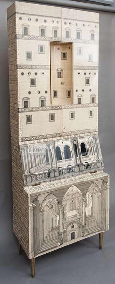 Piero Fornasetti trumeau architecturra, Italy circa 1959 2