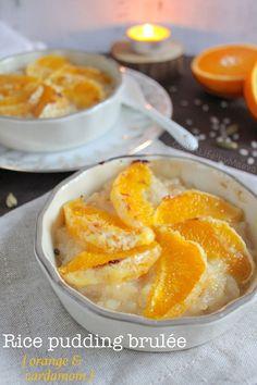 Orange cardamom rice pudding brulee (vegan option)   #dessert #vegan #végétalien #foodporn #childhood #enfance #comfort #food #réconfortant