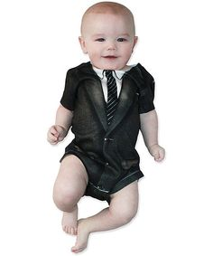 Take a look at this Black & White 1960s Suit Bodysuit - Infant by Faux Real on #zulily today!