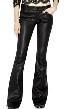 The Alice and Olivia Leather Bell Pant, $998, as seen on Beyonce.