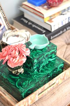 Mimosa Lane: Faux Malachite DIY