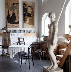Tove Janssons fantastiska lägenhet i Helsingfors, fortfarande orörd. Se hela hemmet på residencemagazine.se | residencemag