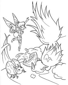 Ladybird And Tinkerbell Coloring Page From Disney Fairies Category Select 30197 Printable Crafts Of Cartoons Nature Animals Bible Many More