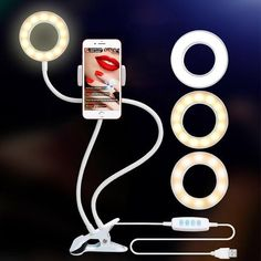 Photo Studio Selfie LED Ring Light with Cell Phone Mobile Holder Ring Light With Stand, Led Ring Light, Iphone 7 Plus, Iphone 8, Smartphone Holder, Cell Phone Holder, Selfies, Portable Led Lights, T Mobile Phones