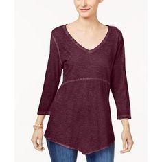 1521fe4472d Style   Co Plus Size Cotton Scarf-Hem Top