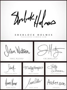 Sherlock Holmes did say that you can tell a lot about a person from their handwriting. Anderson's...
