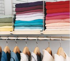 Closet   Clothes   Organized   shelf dividers for stacking sweaters