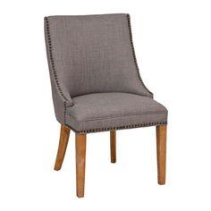 Darla Gray Linen Accent Chair | Kirklands