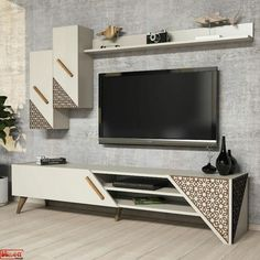 - TV Unit Models & Ideas - Beril White TV Unit TV is bigger than any story it reports. Get this Beril White TV Unit on our webs. Tv Unit Furniture Design, Tv Unit Interior Design, Lcd Unit Design, Interior Modern, Wall Unit Designs, Living Room Tv Unit Designs, Tv Unit For Bedroom, Bedroom Tv Unit Design, Modern Tv Unit Designs