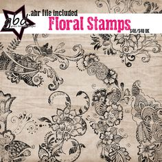 Floral Stamps :: Brushes and Stamps :: Elements :: Memory Scraps