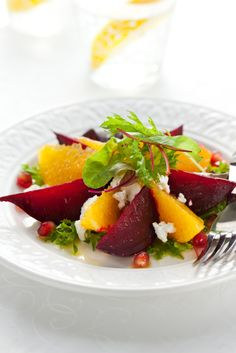 Salad Recipe: Roasted Beet and Navel Orange Goat Cheese Salad