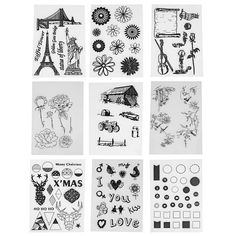Transparent Stamps DIY Silicone Clear Seals Deer Flowers Vehicles Car Circle Various of Symbols Scrapbooking Card Decorating