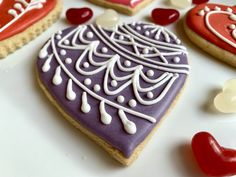 Valentine's Day Cookies Royal Icing Davids Cookies, Royal Icing, Sugar, Desserts, Food, Tailgate Desserts, Deserts, Essen, Postres