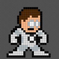 8-bit Hal Jordan (White Lantern)