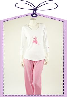 deer in rose nightdress made by Louis+Louisa online available at www.pyjama-und-co.com