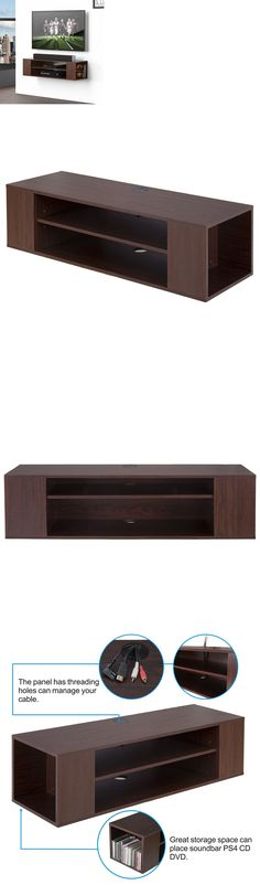 Entertainment Units TV Stands 20488: Wall Mount Media Console Entertainment Center Tv Stand Floating Shelf Shelves -> BUY IT NOW ONLY: $66.39 on eBay!