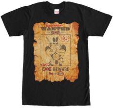 Deadpool Wanted Tshirt - Mens Black Tee