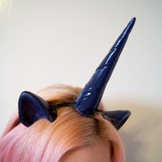 Princess Luna Cosplay Costume Ears & Horn Set by SteamWolf on Etsy, $26.00