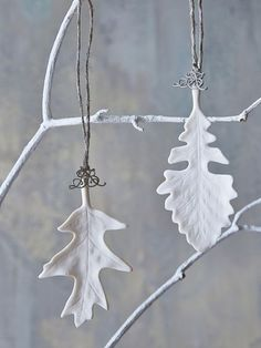 white leaf ornaments <3                                                                                                                                                                                 More