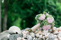 lilac purple peony wedding bouquet