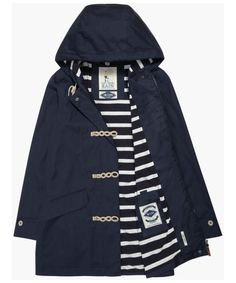 The Women's Seasalt Long Seafolly Waterproof Jacket is the perfect companion for those rainy days this season and beyond, as part of the Seasalt Rain® collectio Girls Raincoat, Black Raincoat, Hooded Raincoat, Joules Clothing, Crew Clothing, Raincoats For Women, Jackets For Women, Clothes For Women