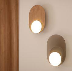 Applique Dot 03 en bois / métal au design graphique par Tunto Luminaire Applique, Style Minimaliste, Structure Metal, Luminaire Design, Design Graphique, Design Moderne, Wall Lights, Lighting, Home Decor
