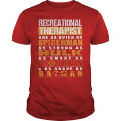 RECREATIONAL THERAPIST T-Shirts, Hoodies. GET IT ==► https://www.sunfrog.com/LifeStyle/RECREATIONAL-THERAPIST-112297719-Red-Guys.html?id=41382