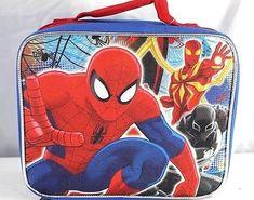 Spider-Man Boy's Insulated Carry-On Shoulder Lunch-Bag. Kids Cartoon Characters, Cartoon Kids, Spiderman Images, Large Lunch Bag, Insulated Lunch Box, Blue Camo, Crossbody Messenger Bag, Cute Kids, Marvel