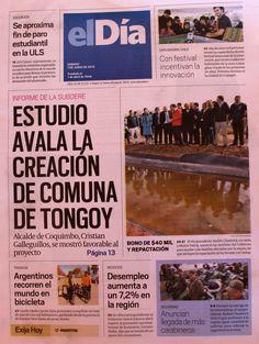 """Diario """"El Día"""" La Serena, Chile La vuelta al mundo en Chile www.viajerosdelosvientos.com"""