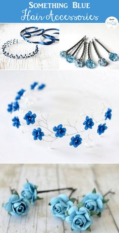 Something Blue hair accessories found on Etsy