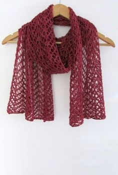 Lightweight Lace Knit Scarf Free Pattern — Sum of their Stories Craft … Easy Scarf Knitting Patterns, Lace Knitting Stitches, Easy Knitting, Loom Knitting, Knitting Ideas, Lace Patterns, Free Pattern, Knit Lace, Blog