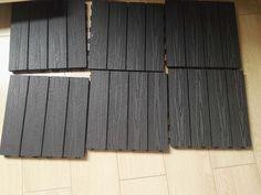 300x300mm WPC DIY DECKING Garden wood plastic composite flooring WPC diy deck tile