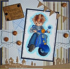 Scooter Boy - made by MariannesCraftroom