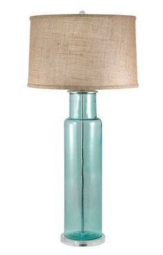 A gorgeous lighting accent to add to your nautical room, this 30 inch tall recycled Glass Buoy Table Lamp in Blue will be just the right finishing touch! Tall Lamps, Large Lamps, Farmhouse Lamps, Rustic Lamps, Origami Lamp, Retro Lamp, Bright Homes, Bedroom Lamps, Contemporary Lamps