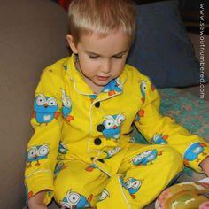 Boy Sewing: Hoot Paj