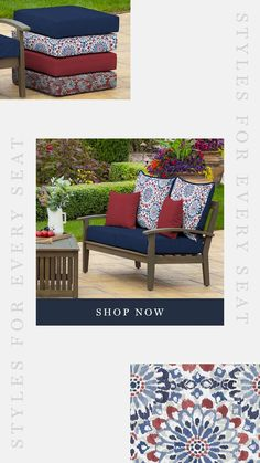 108 Best Blue Outdoor Cushions Images