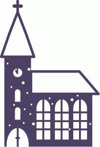 Silhouette Design Store - View Design #50901: snowy church
