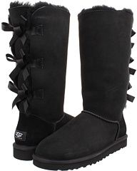 UGG Bailey Bow Tall, The Bailey Bow runs large and is available in whole sizes. Please order one size down from your normal size. If a half size, please order only 1/2 size down. Please be advised, boots are not made for snow and ice or heavy walking. Enjoy the charm and comfort of the Bailey Bow Tall boot from UGG Australia.