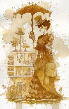 Couture- water painting by Brian Kesinger https://www.steampunkartifacts.com