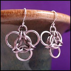 Silver Inverted Aura Earrings by RedPandaChainMail, via Flickr