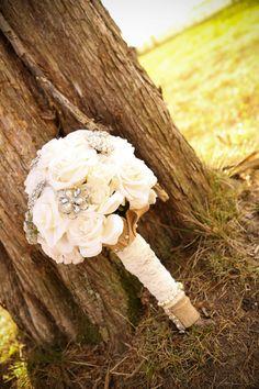 Rose brooch bouquet broach bouquet broche bouquet by KatysClips,